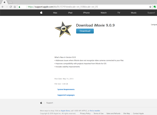 download imovie 9.0.9 for mojave