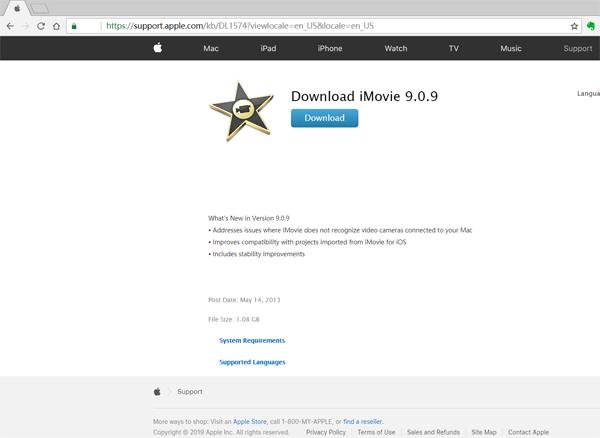 Download iMovie 9: Using iMovie 10 with iMovie 9 0 9