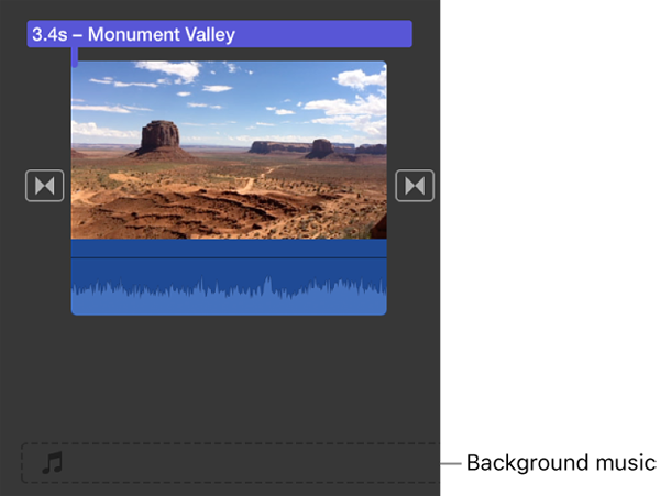 imovie add music to video
